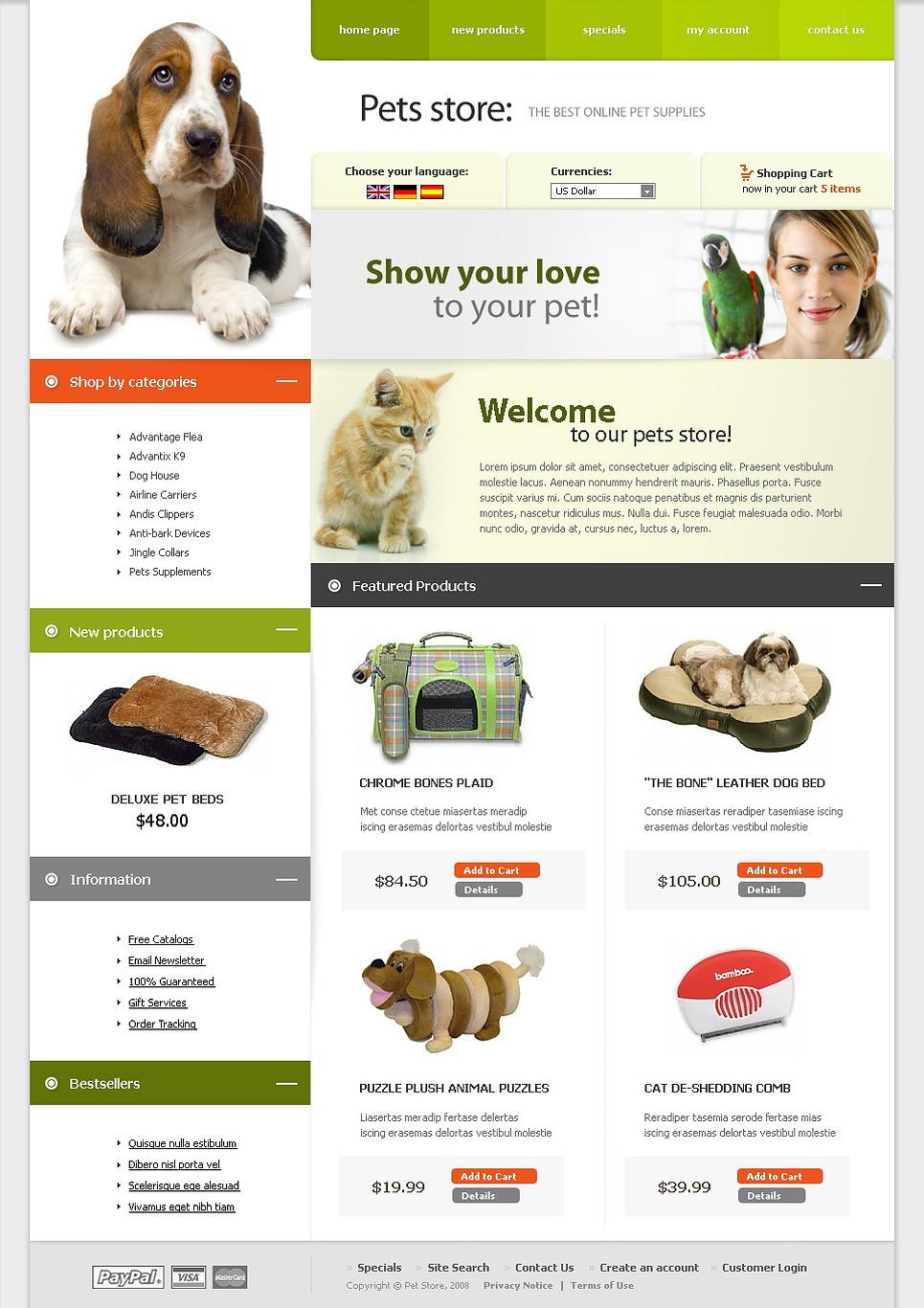 Pet Shop CRE Loaded Template New Screenshots BIG