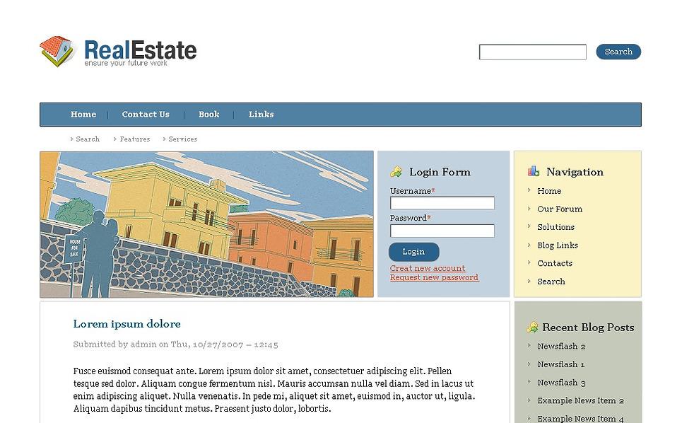 Plantilla drupal 22551 para sitio de agencia inmobiliaria for Agencia inmobiliaria