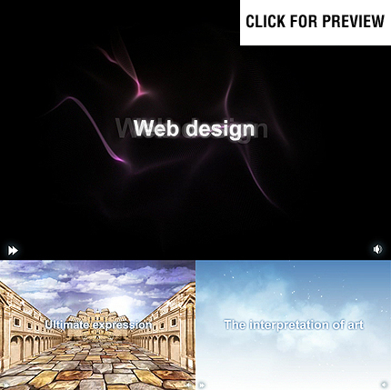 Web Design Flash Intro Template FLASH INTRO SCREENSHOT