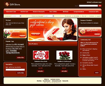 Gift store - Best Gift Shop Magento Theme For Valentine's Day
