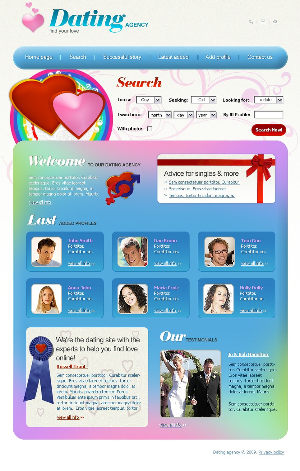dating website layout Graphic design & website design projects for $30 - $250 i need html5 design for dating site on urgently basisi need below pages 1 home page 2 messaging system 3.