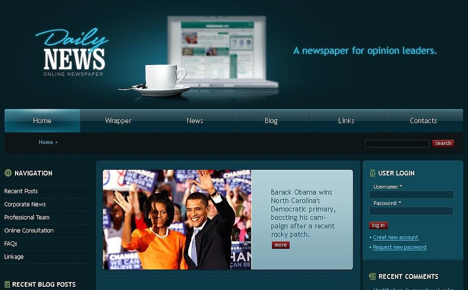 News Portal Drupal Template New Screenshots BIG