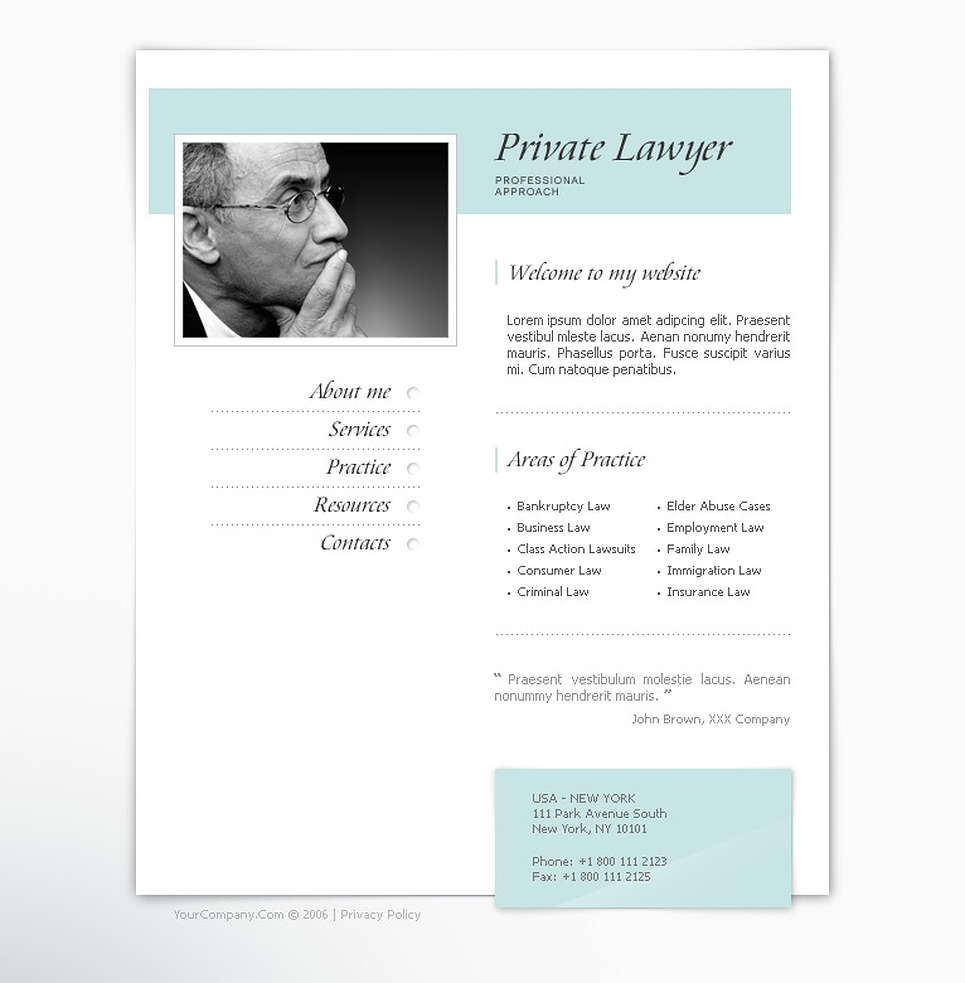 Lawyer Turnkey Website 1.0 New Screenshots BIG