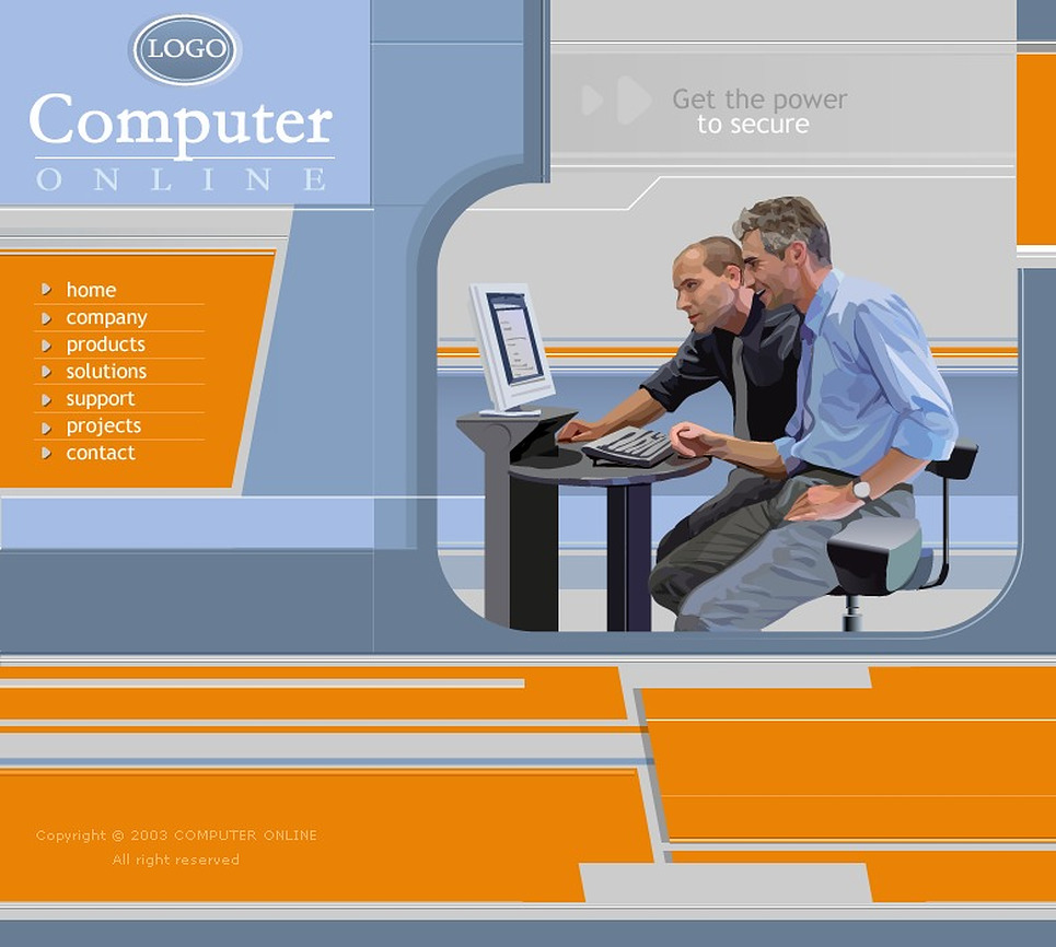 Computers Website Template New Screenshots BIG