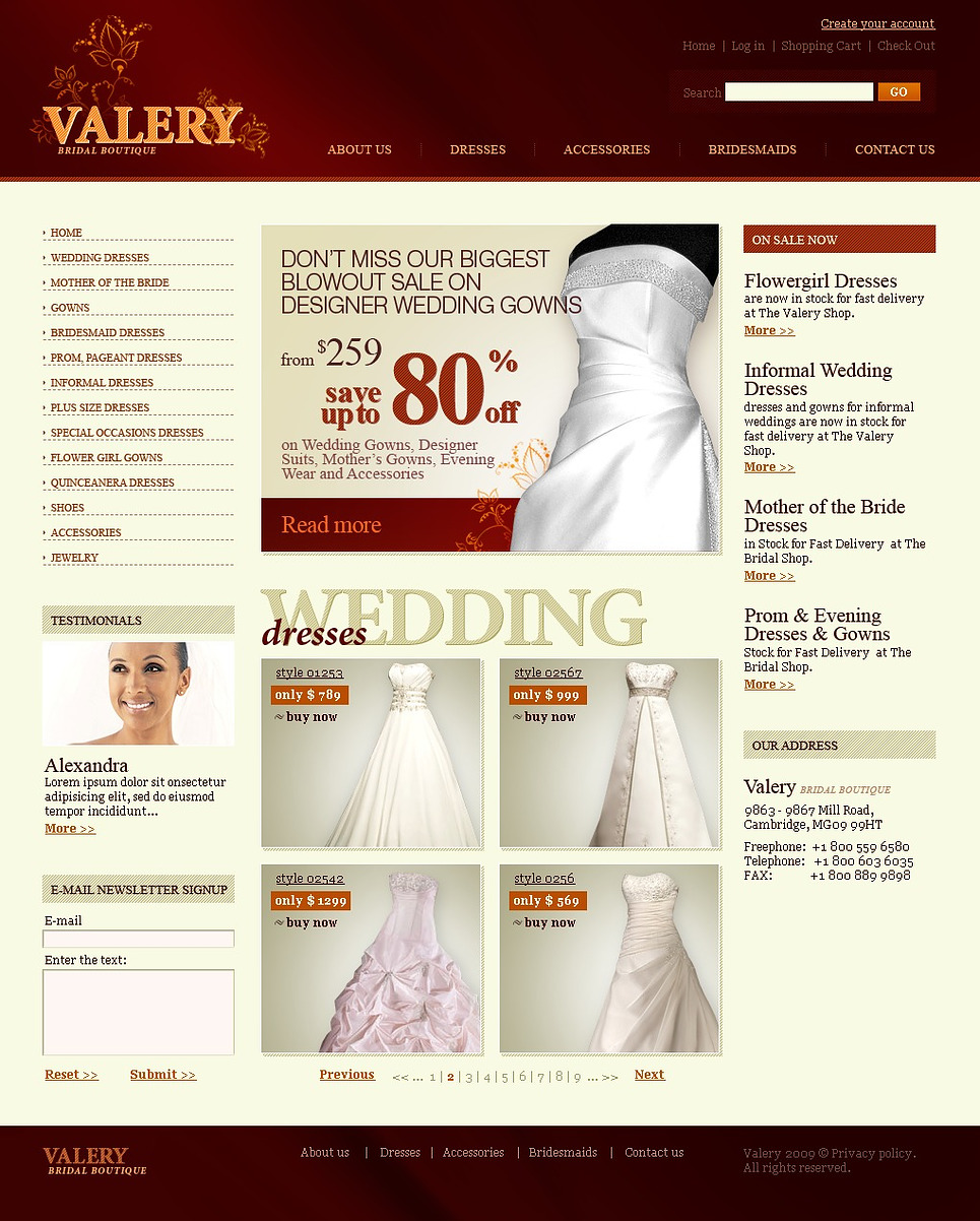 Wedding Dresses Website Template New Screenshots BIG
