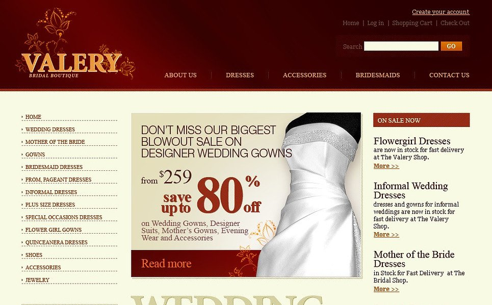 Wedding Dresses Website Template New Screenshots BIG