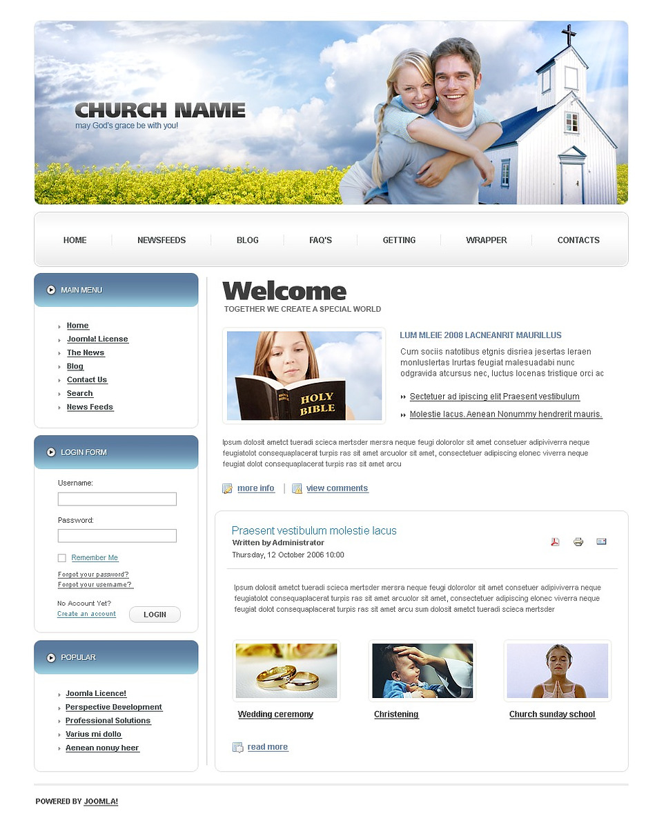Christian Joomla Template New Screenshots BIG