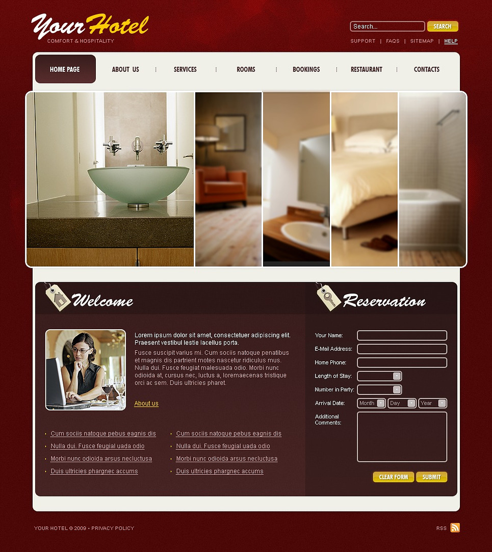 Hotels Website Template New Screenshots BIG