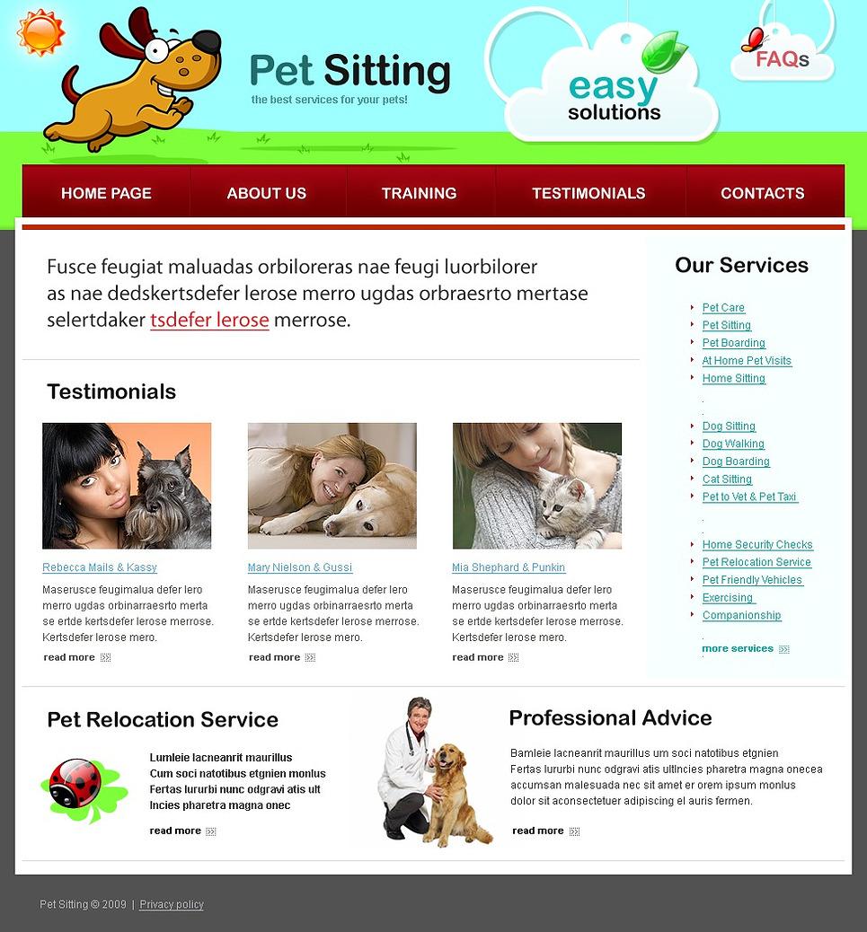 pet sitting template