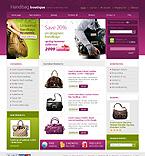 Template #23160  Keywords: handbag boutique purse bag bags shop store fancy bag leather fashion