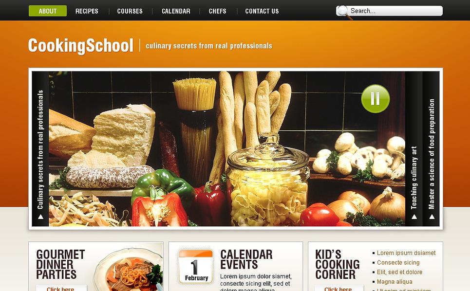 Cooking School Website Template New Screenshots BIG