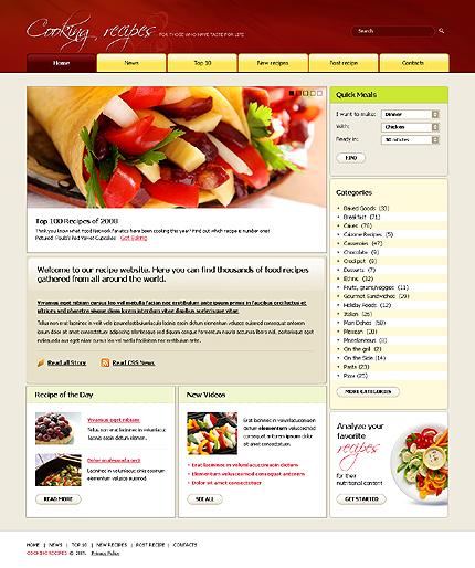 Шаблон: 23305 Ключевые слова: cooking, recipes, вебpage, site...