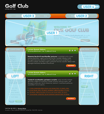 golf joomla template web design templates website templates download golf joomla template 23341. Black Bedroom Furniture Sets. Home Design Ideas