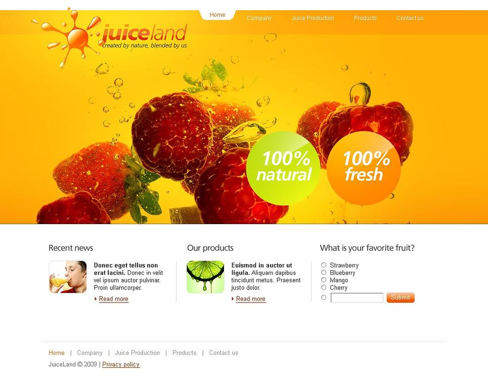 Food & Drink Website Template New Screenshots BIG