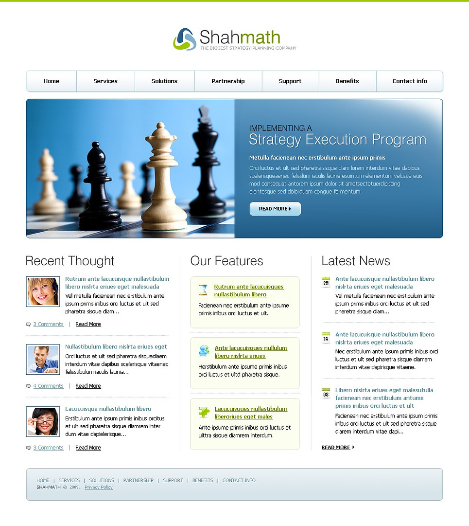 Consulting website template 23374 for Consulting website