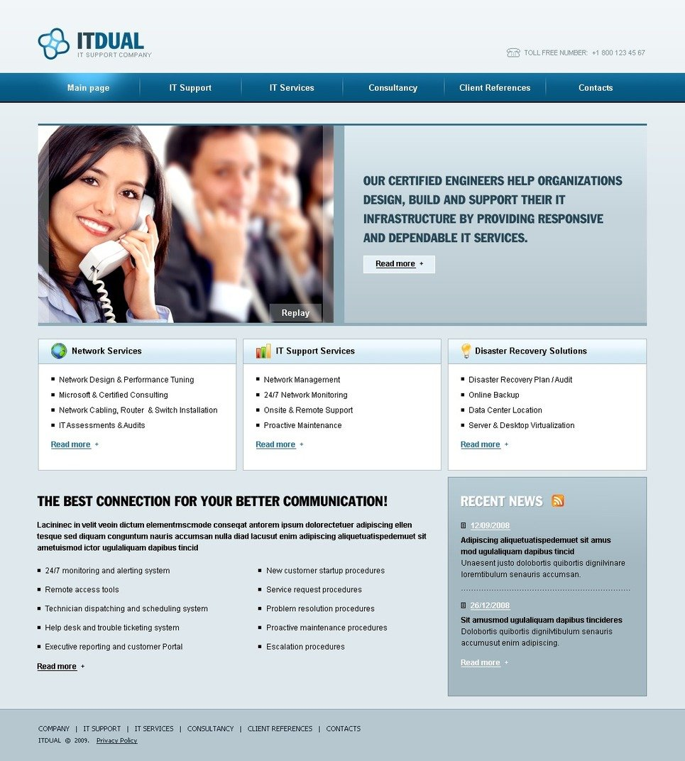 IT Website Template New Screenshots BIG