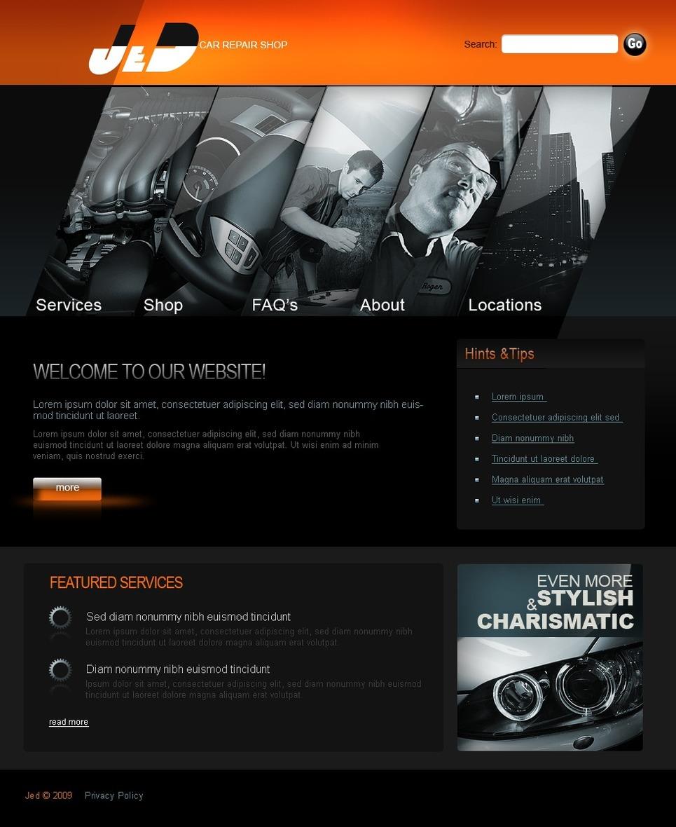car repair website template web design templates website templates download car repair. Black Bedroom Furniture Sets. Home Design Ideas