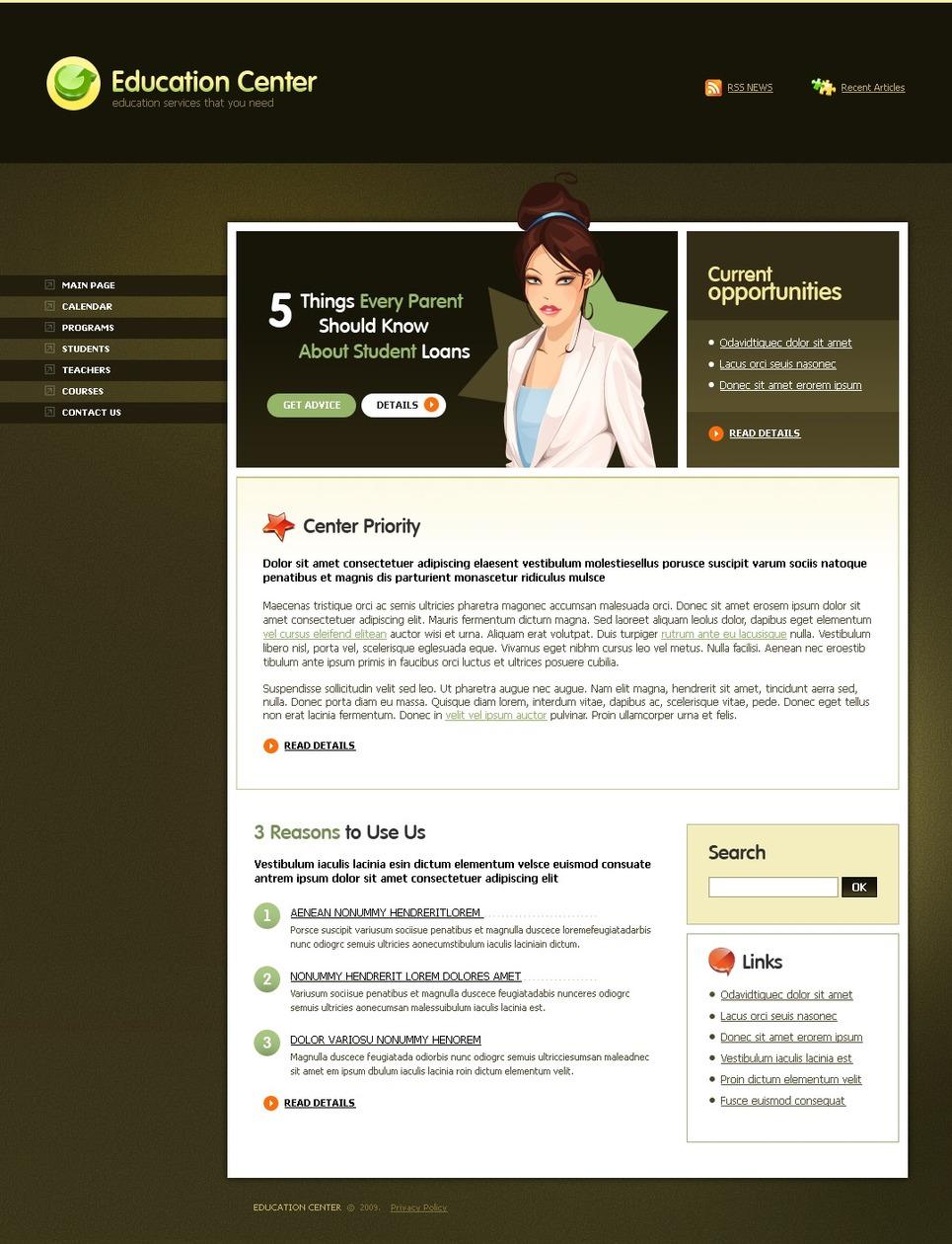 Classroom Design Website : Classroom management website template web design