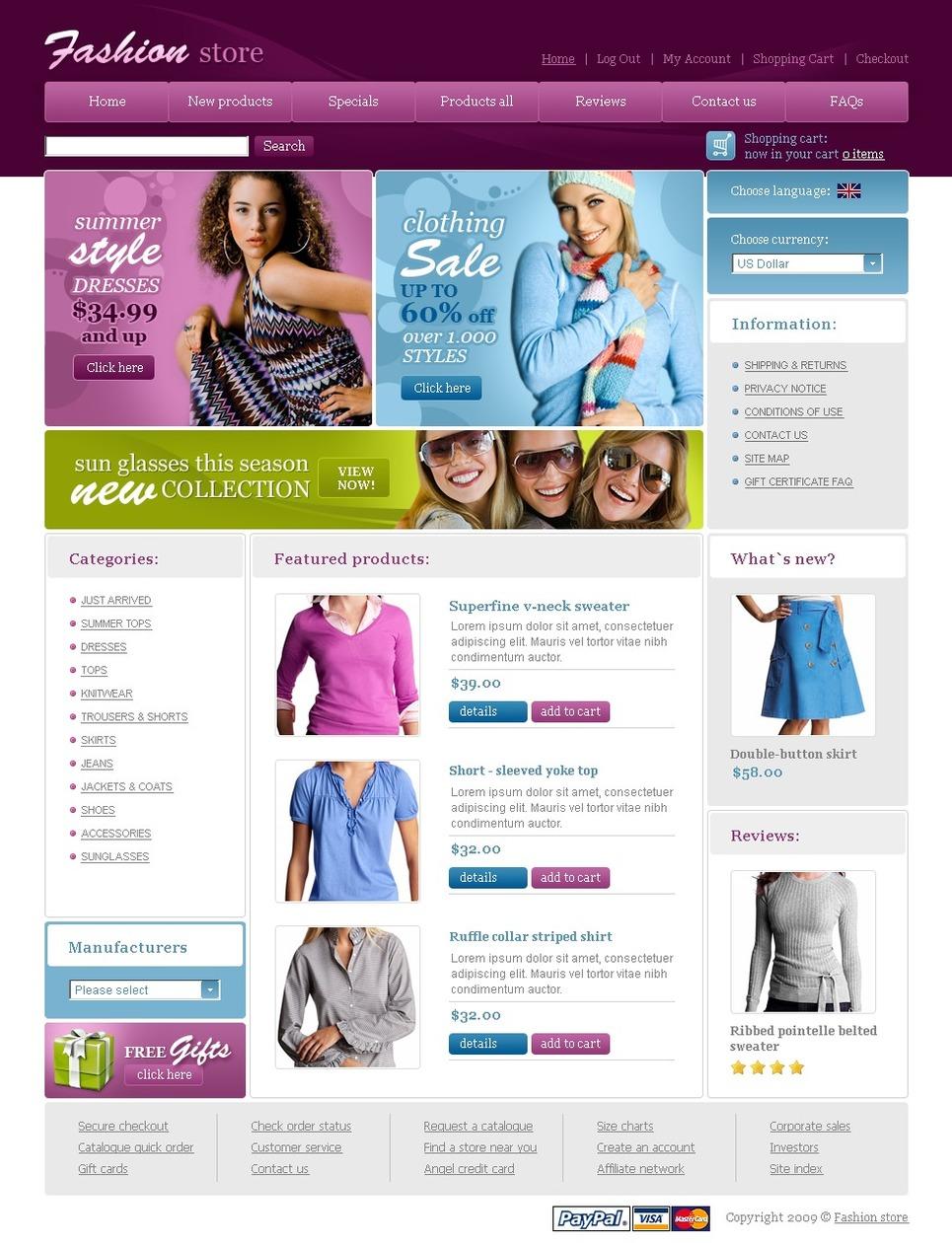 Fashion Store Website Template Web Design Templates Website Templates Download Fashion Store