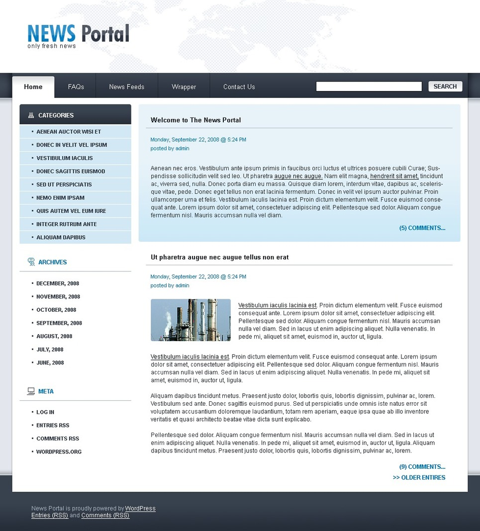 News Portal WordPress Theme New Screenshots BIG