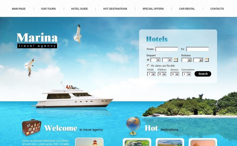 Travel Agency SWiSH Template New Screenshots BIG