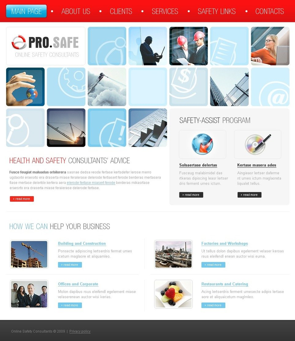 Consulting website template 23726 for Consulting website