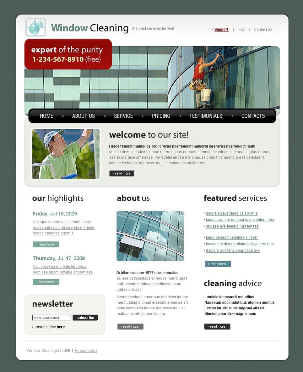 Window Cleaning Website Template New Screenshots BIG