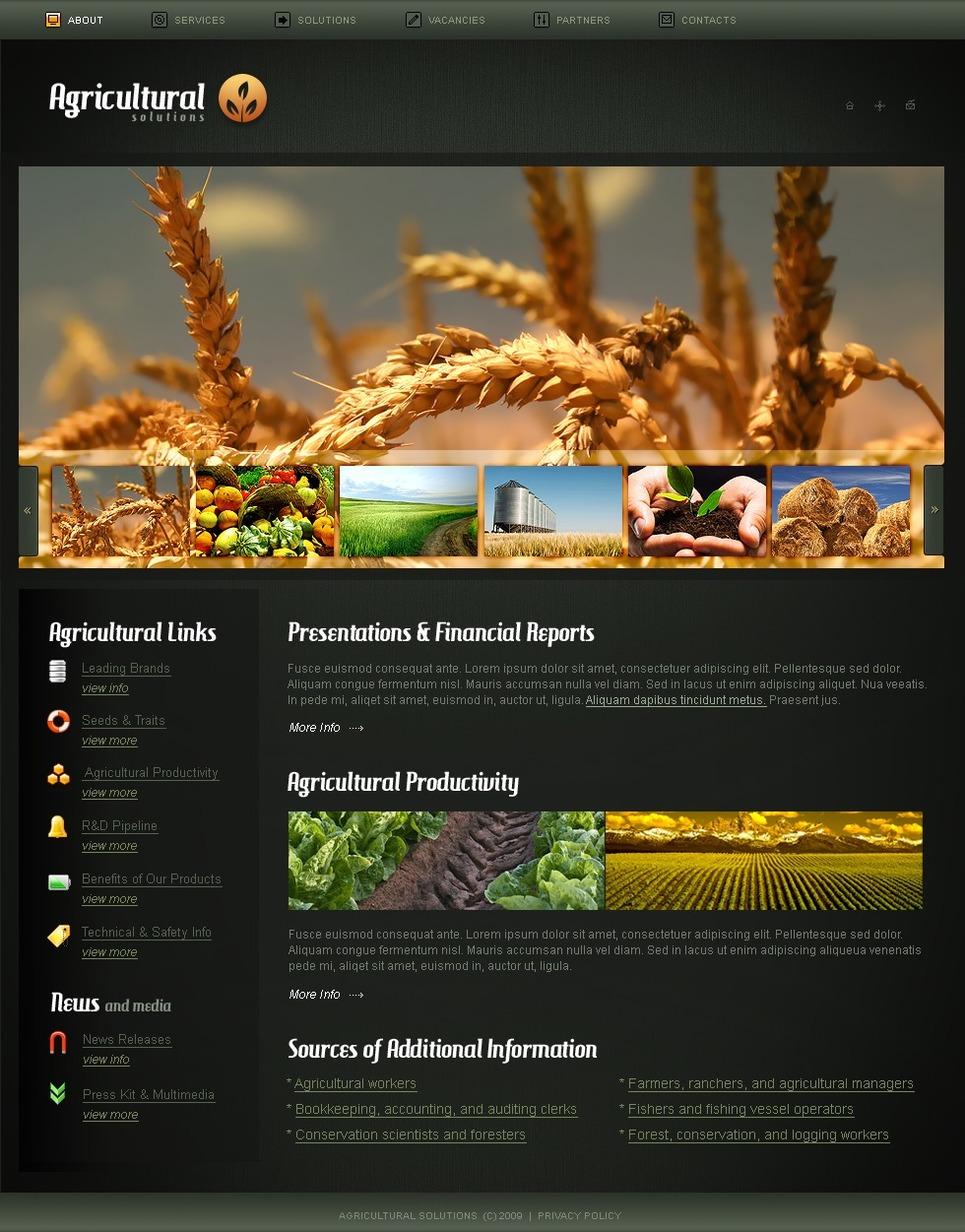 Agriculture Website Template New Screenshots BIG