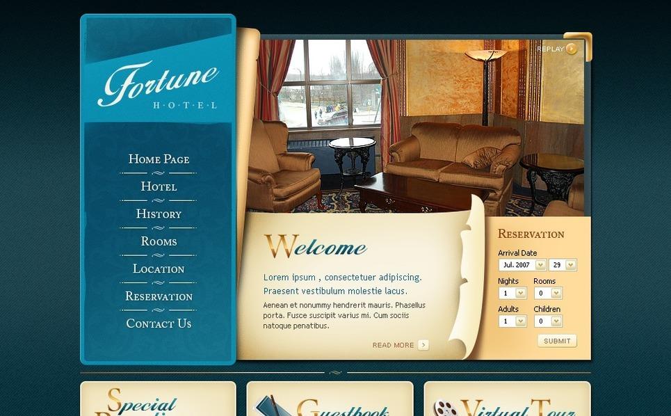 Hotels Flash Template New Screenshots BIG