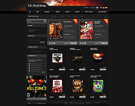 Cd and DVD shop - Humorous CD and DVD Store Magento Theme