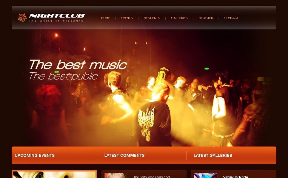 Night Club Website Template New Screenshots BIG