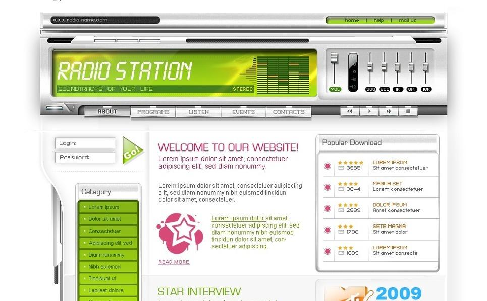 Radio Website Website Template New Screenshots BIG