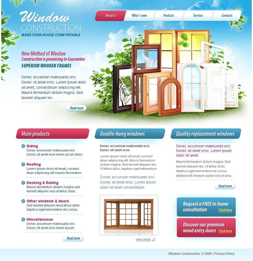Window website template web design templates website for Window design template