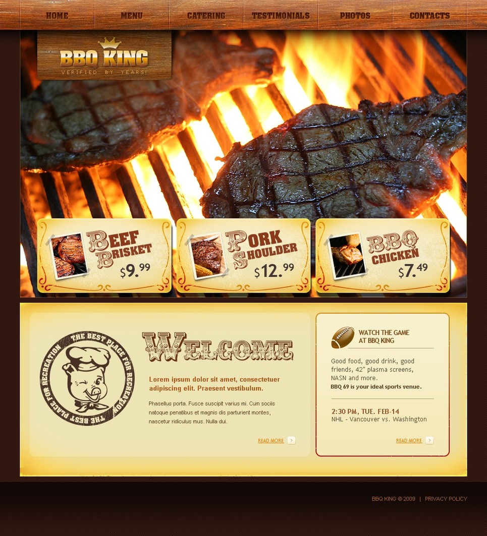 bbq restaurant website template web design templates website templates download bbq. Black Bedroom Furniture Sets. Home Design Ideas