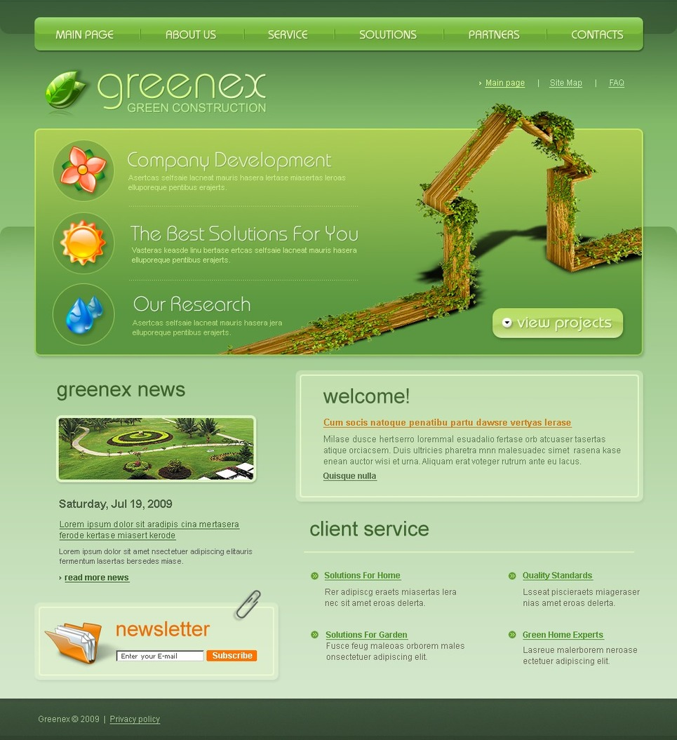 Garden Design Website Template New Screenshots BIG