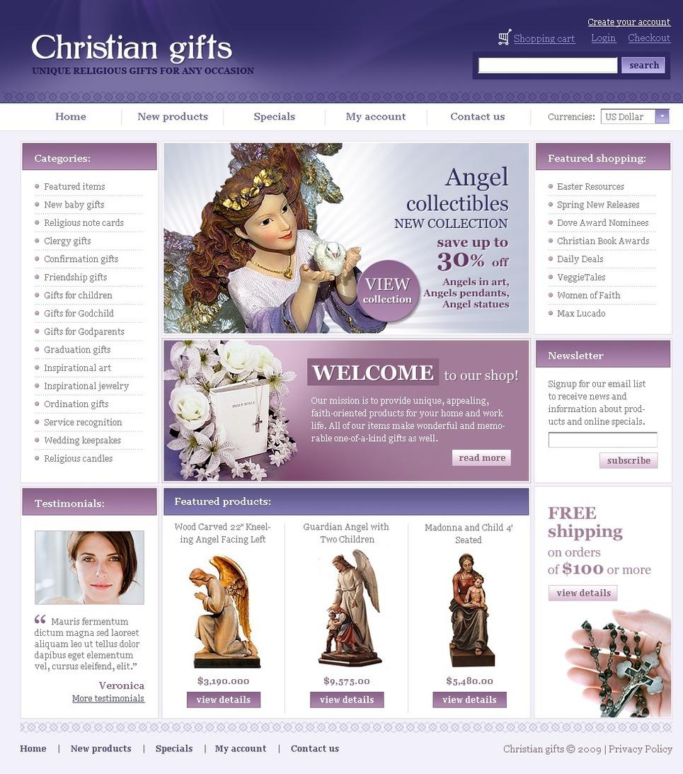 Gifts Store Website Template New Screenshots BIG