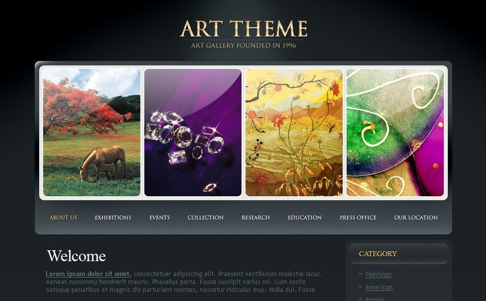 Art Gallery Website Template New Screenshots BIG