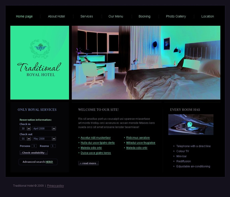Hotels SWiSH Template New Screenshots BIG