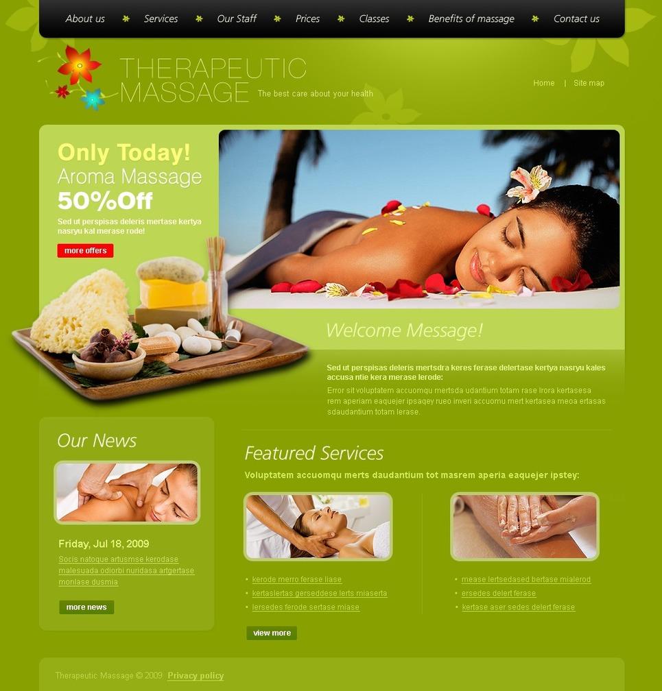 Massage Salon Website Template #24426