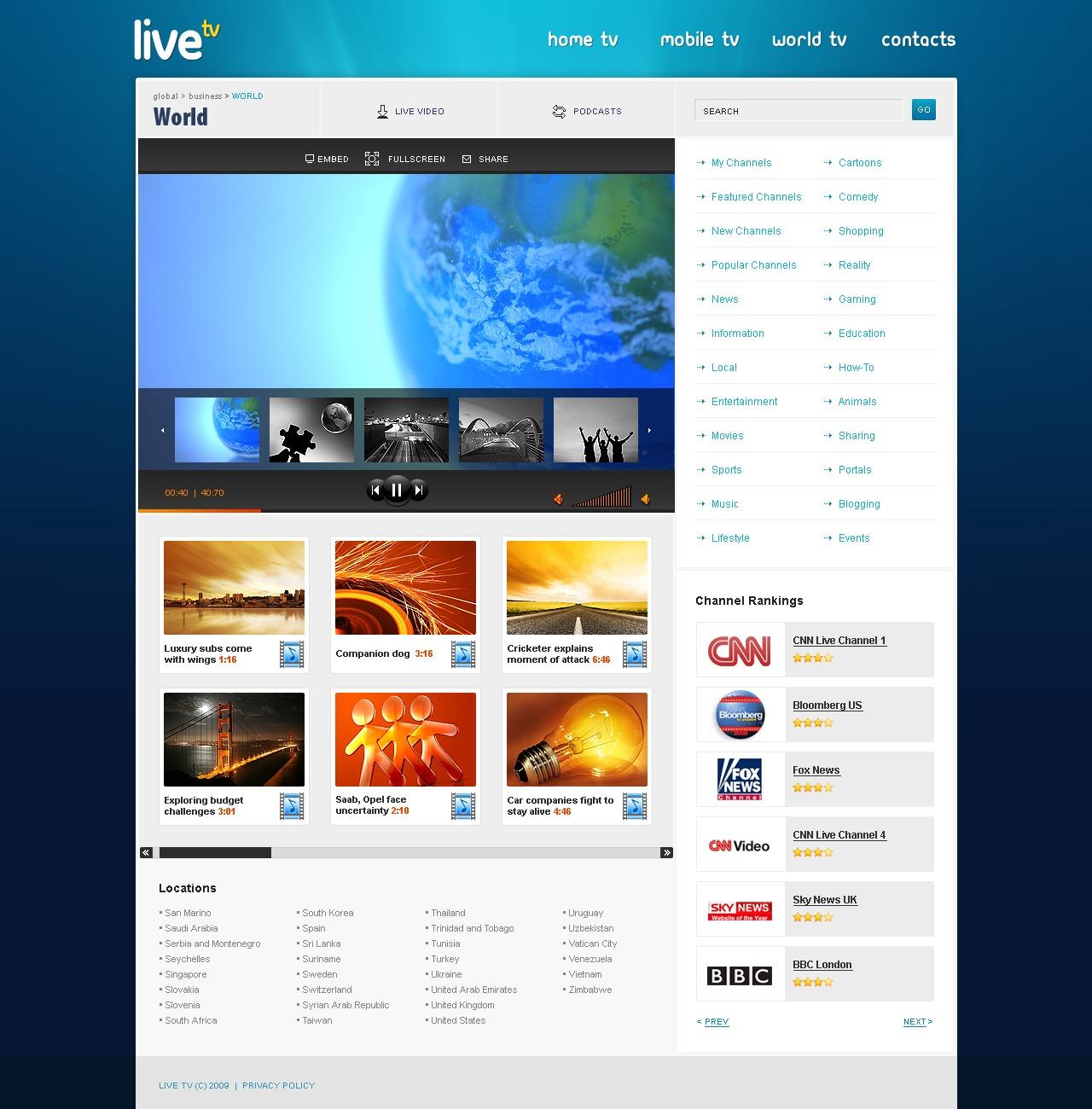 Satellite Tv Website Template 24542