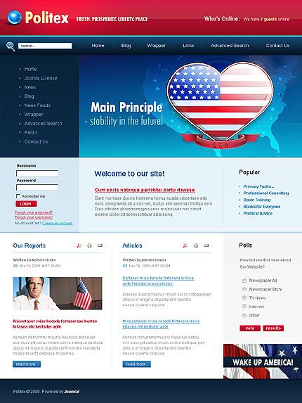 Заказ создания сайта или интернет магазина на тему Политика, на основании шаблона №24647.