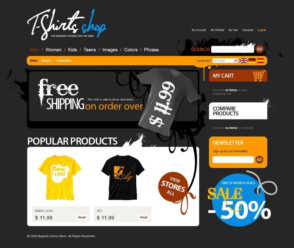 T-shirt Shop Magento Theme New Screenshots BIG