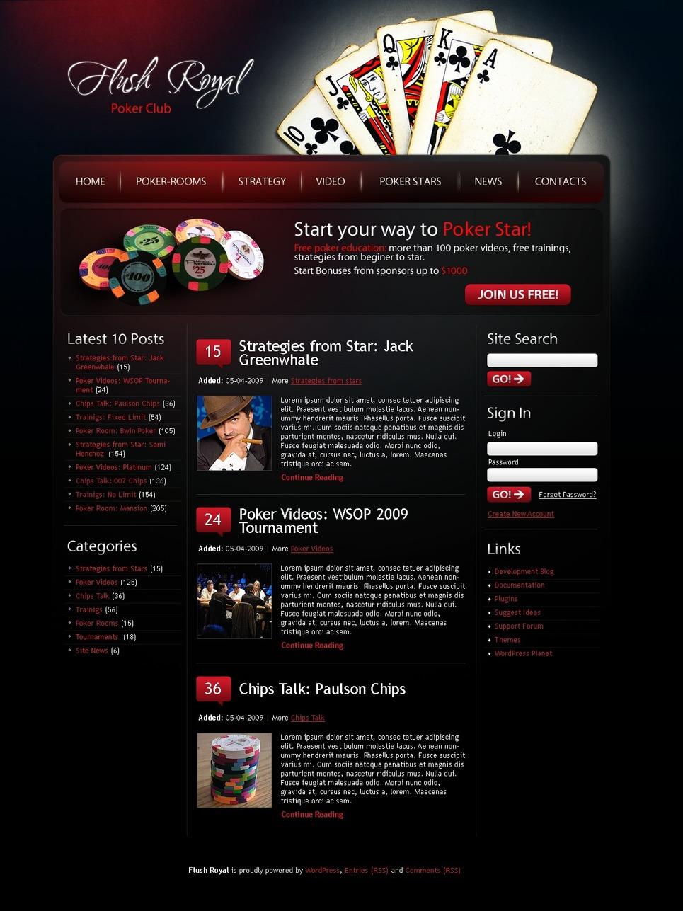 Шаблоны Бесплатные Сайтов Казино