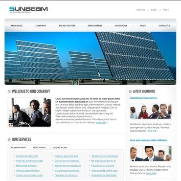 solar energy website template 24835. Black Bedroom Furniture Sets. Home Design Ideas
