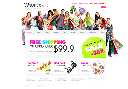 Women store - Best Magento Fashion Store Theme