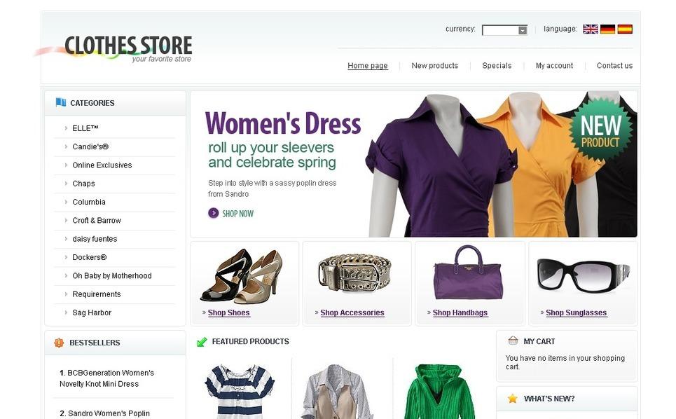 Apparel OsCommerce Template New Screenshots BIG