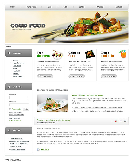 Главная.  Портфолио.  Food & Drink Web Templates.