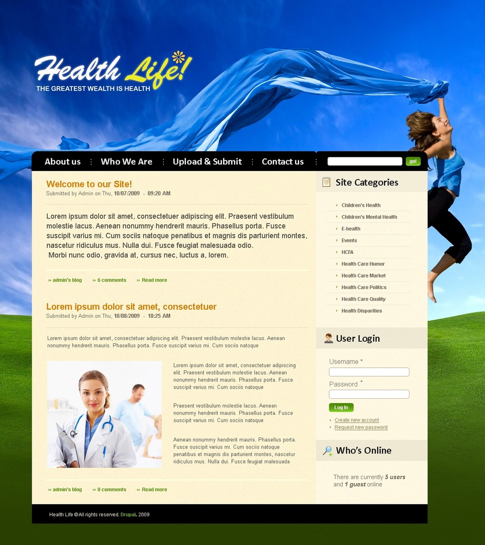 Medical Drupal Template New Screenshots BIG
