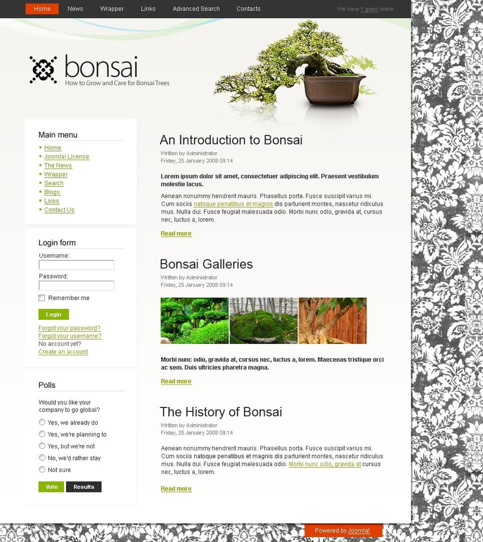 Garden Design Joomla Template 24975