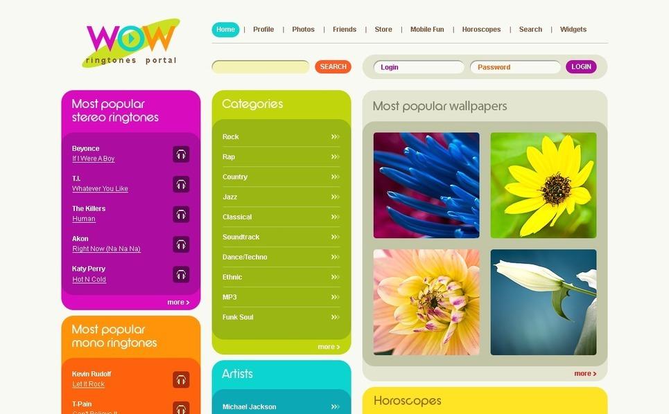 Mobile Content Website Template New Screenshots BIG